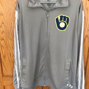 ⚾️🔥NWT's Milwaukee Brewers Full Zipper Jacket XL